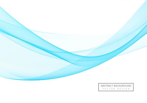 Ola de negocios que fluye creativo azul