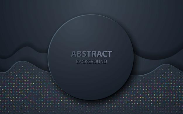 Ola negra abstracta decoracion realista