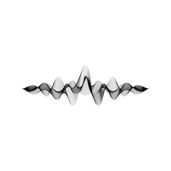 Ola de sonido aislado en blanco
