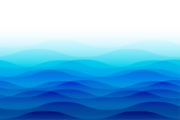 Olas del mar océano con ondas