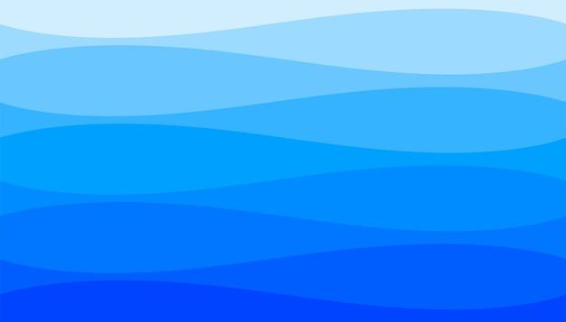 Las olas del mar rizado estilo fondo azul