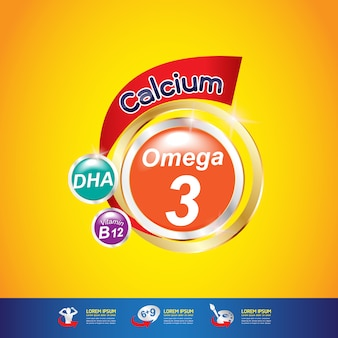 Omega calcio y vitamina
