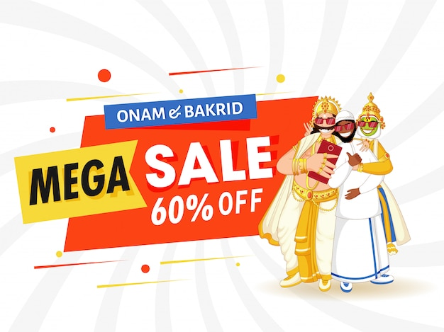Onam & bakrid mega sale label, tag