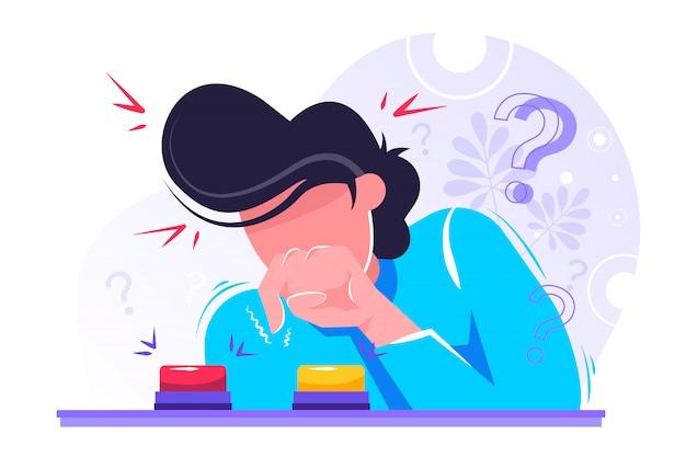 Oncept ilustración de personas que hacen preguntas frecuentes