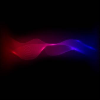 Onda abstracta coloreada o elemento de línea curva para diseño