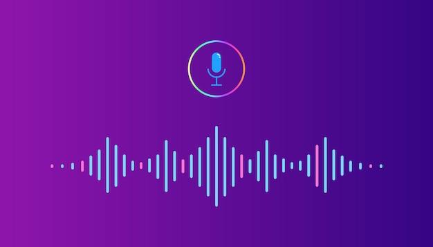 Onda de audio de sonido del ecualizador