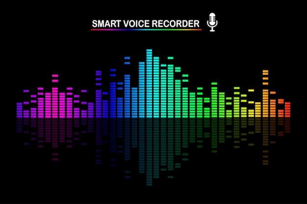 Onda de audio de sonido de la ilustración del ecualizador