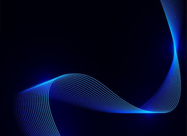Onda azul claro sobre fondo azul oscuro
