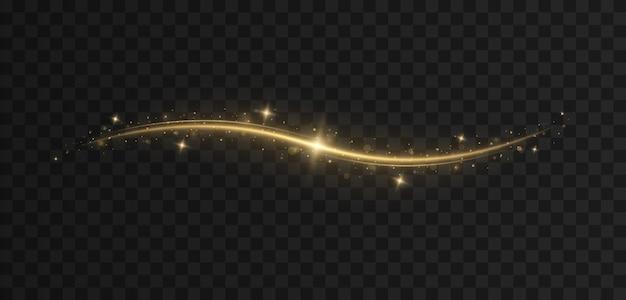 Onda brillante de confeti partículas de polvo mágico espumoso efecto de luz navideña
