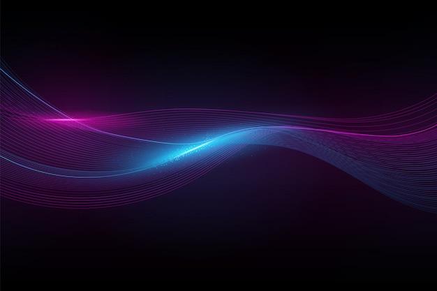 Onda de espectro abstracto