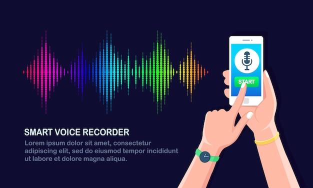 Onda de gradiente de audio de sonido del ecualizador.