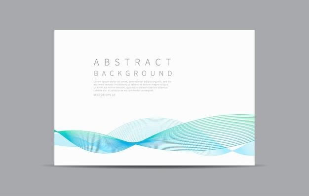Onda de línea azul de fondo abstracto