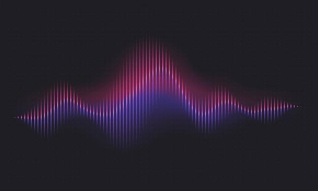 Onda de sonido abstracta