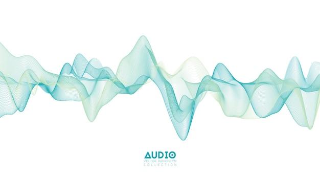 Onda de sonido de audio 3d