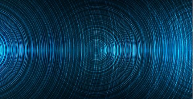 Onda de sonido digital, fondo de tecnología de velocidad
