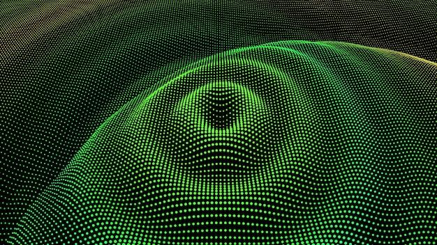 Onda de sonido de dimensión de partícula
