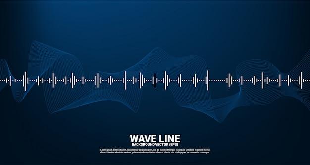 Onda de sonido de fondo ecualizador de música. música voz señal audiovisual