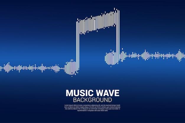 Onda de sonido de fondo de ecualizador de música.