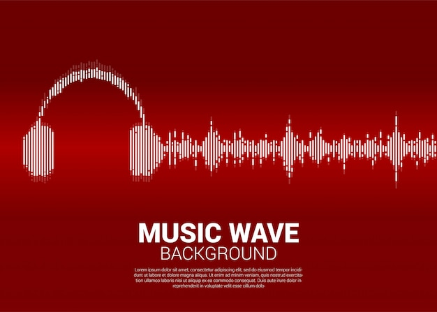 Onda de sonido de fondo de ecualizador musical.