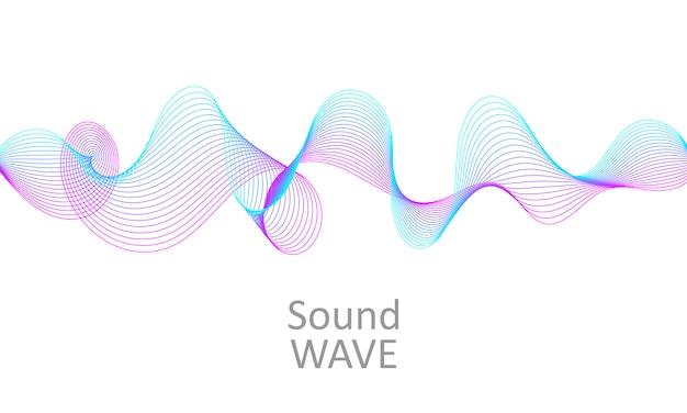 Onda de sonido. forma 3d abstracta. diseño de flujo.