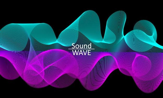 Onda de sonido. forma abstracta. fluir . fondo fluido moderno. onda líquida. forma de flujo. textura líquida. flujo de fluido.