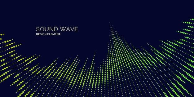 Onda de sonido. ilustración de vector moderno sobre fondo oscuro