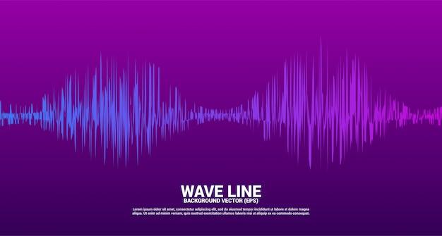 Onda de sonido línea curva de fondo