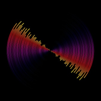 Onda de sonido multicolor del fondo del ecualizador
