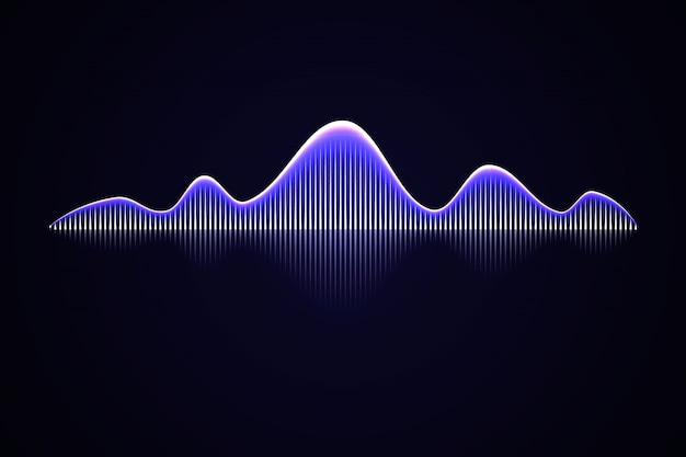 Onda de sonido de música abstracta,