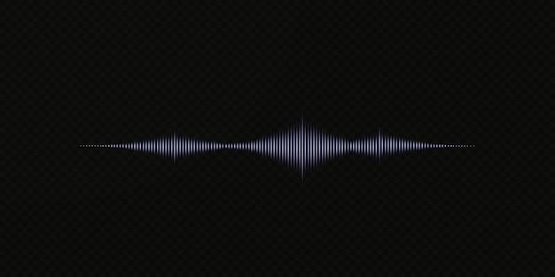 Onda de sonido sobre fondo transparente