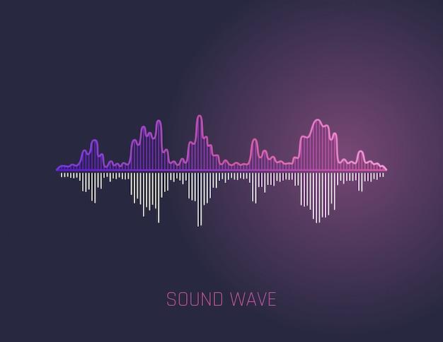 Onda de sonido de vector