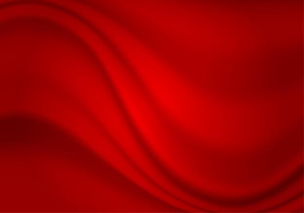 Onda de tela de cortina textil de textura de tela de satén de seda abstracta roja