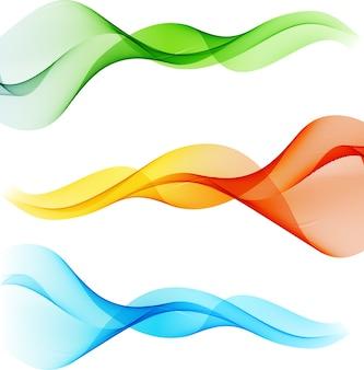 Onda transparente colorida abstracta.