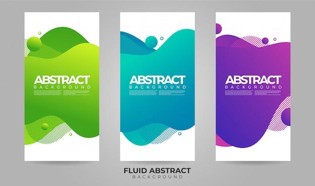 Ondas abstractas fluidas líquidos gradiente venta banner plantilla