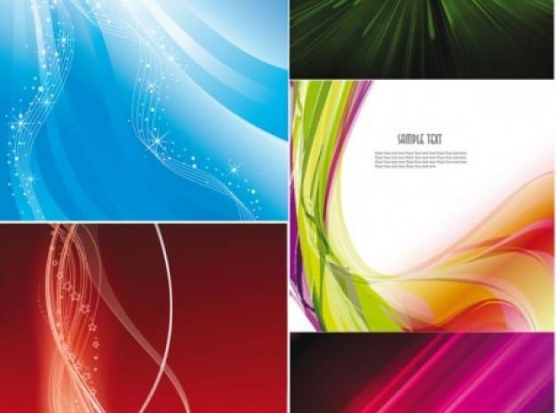 Las ondas de colores en fondos abstractos