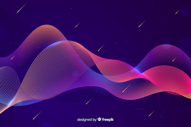 Ondas coloridas de gradiente infografía