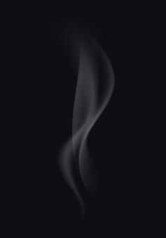 Ondas de humo de cigarrillo blanco sobre fondo