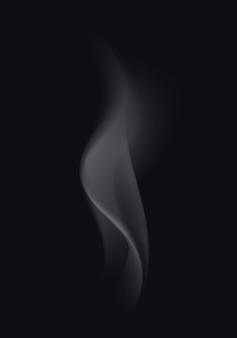 Ondas de humo de cigarrillo transparente sobre fondo
