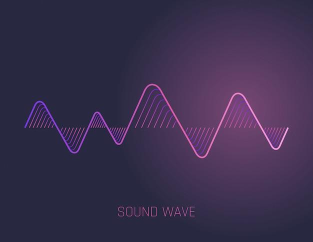 Ondas de sonido de la música