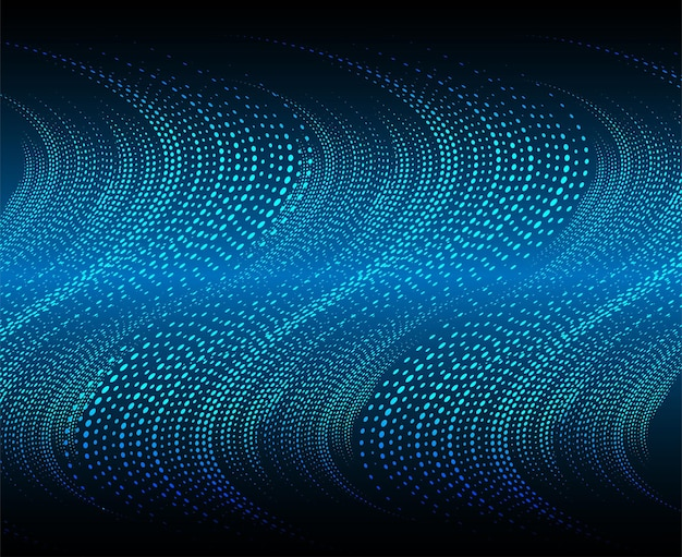 Ondas de sonido que oscilan la luz oscura.