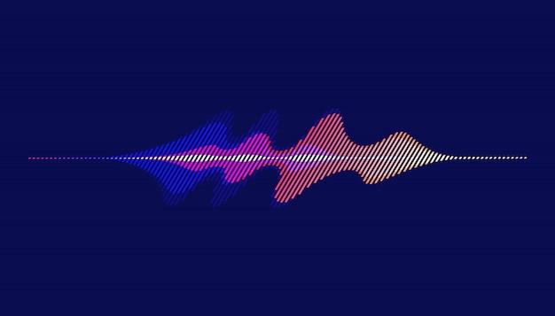 Ondas sonoras, fondo abstracto de onda de sonido de movimiento.