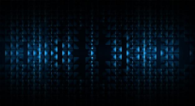 Las ondas sonoras oscilan la luz azul oscuro.