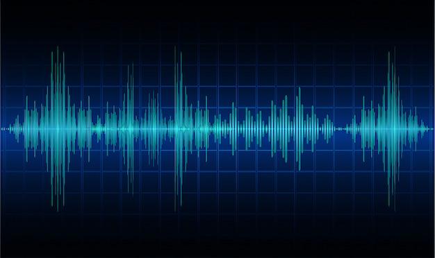 Las ondas sonoras oscilan la luz negra oscura