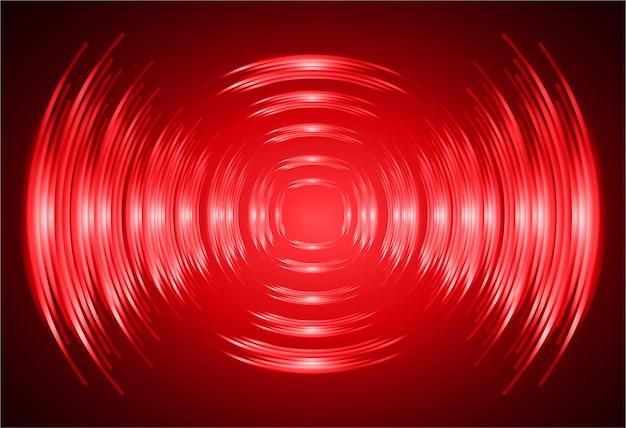 Ondas sonoras oscilantes fondo de luz roja oscura