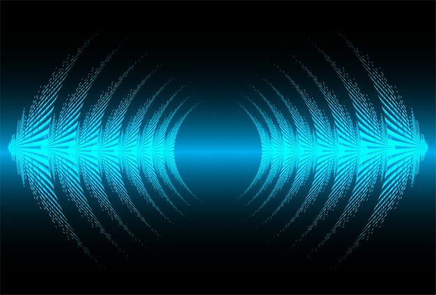Ondas sonoras oscilantes de luz azul oscuro