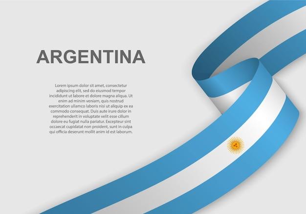 Ondeando la bandera de argentina.