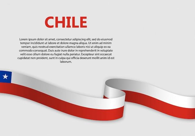 Ondeando bandera de bandera de chile