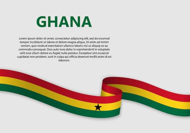 Ondeando bandera de bandera de ghana
