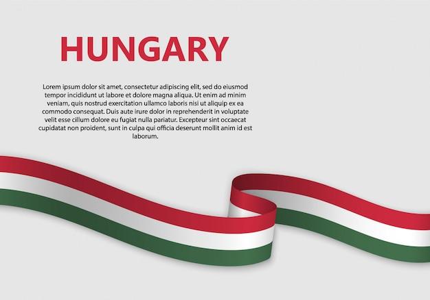 Ondeando bandera de bandera de hungría