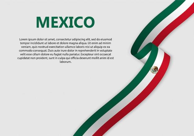 Ondeando bandera de bandera de méxico